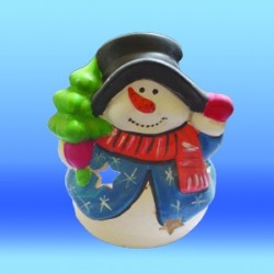 Снежен човек свещник 2
